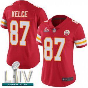 Women Chiefs Travis Kelce Super Bowl LIV Jersey